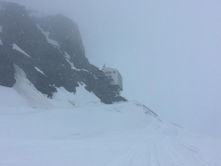 Refugio Mönchsjochhütte, 3.650m de altura