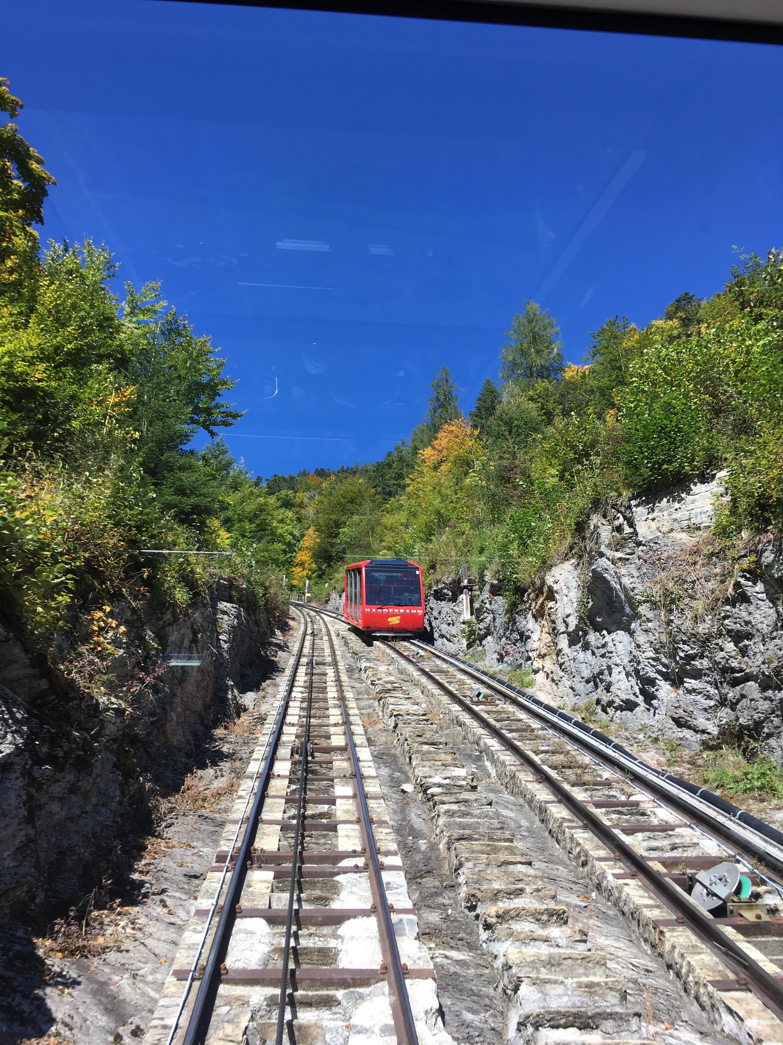 El funicular hacia Harder Klum