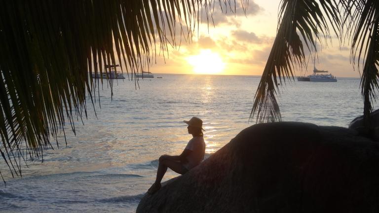 Mi madre y la puesta de sol