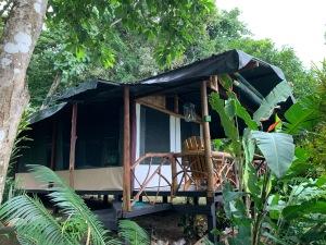 La cabaña en Leona Eco Lodge, en el Parque Nacional Corcovado